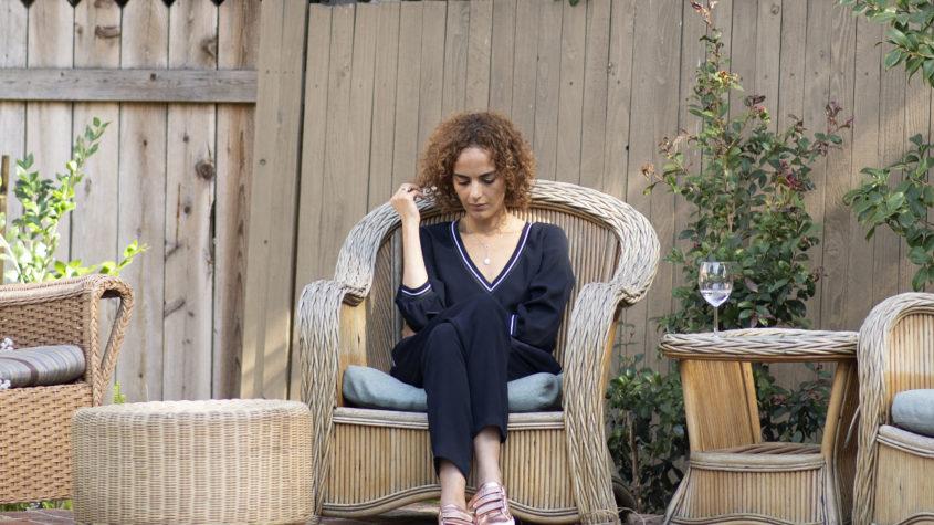 Leïla Slimani en Californie en 2018